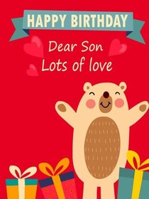 free printable birthday son cards create and print free printable