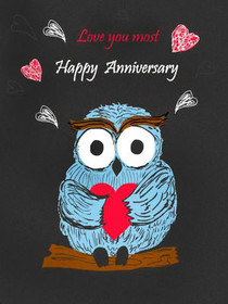Happy Anniversary; Love You Most  Free Printable Anniversary Cards For Parents