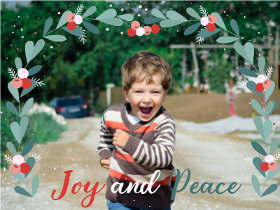 Joy and Peace - Christmas Photocard