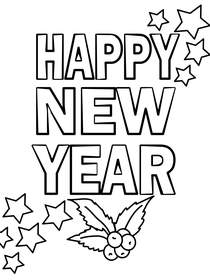 New Year Coloring Card