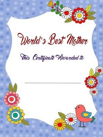 Best Mother Certificate