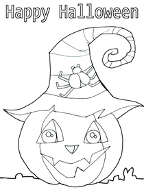 Happy Halloween - Coloring Card