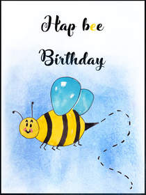 Hap Bee Birthday