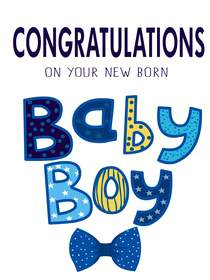 Congratulations on Your New Born Baby Boy