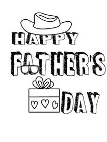 Fathers Day Coloring Card