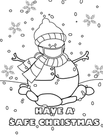 Have a Safe Christmas - Christmas Coloring Card