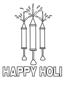 Holi Coloring Card