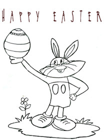 Easter Coloring Card