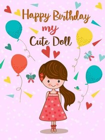picture relating to Free Printable Birthday Cards for Daughter referred to as Totally free Printable Birthday Daughter Playing cards, Generate and Print
