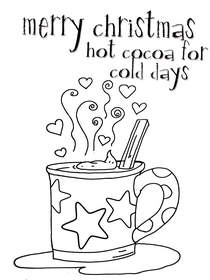 Merry Christmas - Hot Cocoa for Cold Days