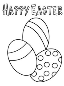 Easter Coloring Card 3