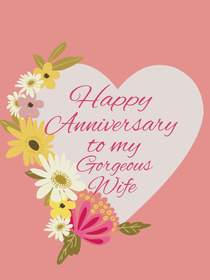 Happy Anniversary to My Gorgeous Wife