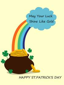 May Your Luck Shine Like Gold