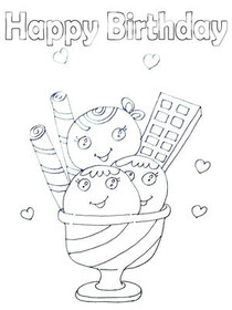 Free Printable Birthday Coloring Cards Cards Create And