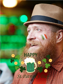 St Patricks Day Photocard