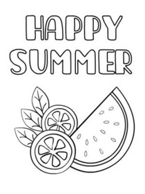 Summer Coloring Card