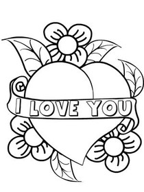 I Love You - Coloring Card
