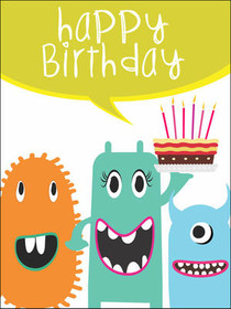 Sassy image with printable children's birthday cards