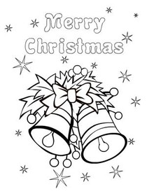 christmas coloring card 7