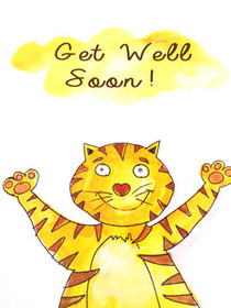 graphic about Get Well Soon Card Printable identified as Cost-free Printable Obtain Nicely Quickly Playing cards, Produce and Print Absolutely free