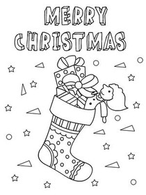christmas coloring card merry christmas