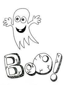 Boo! - Coloring Card