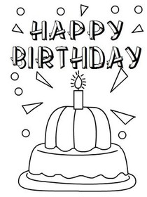Free Printable Birthday Coloring Cards Cards Create And Print Free