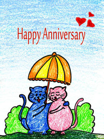 image about Printable Anniversary Cards Free referred to as Absolutely free Printable Anniversary Playing cards, Crank out and Print Totally free
