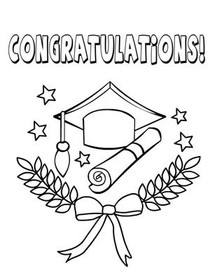 Graduation Day Coloring Card