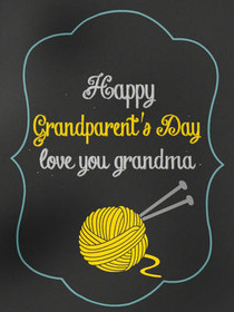 Happy Grandparents Day, Love You Grandma