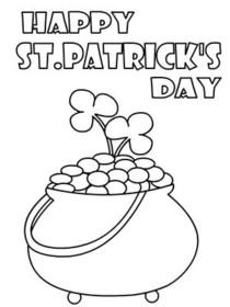 st patricks day coloring card