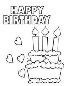 photo relating to Printable Birthday Cards to Color named No cost Printable Birthday Coloring Playing cards Playing cards, Crank out and