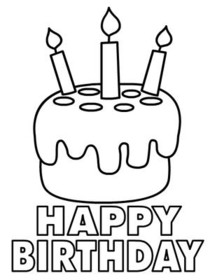 Free Printable Birthday Coloring Cards Cards, Create and Print Free ...
