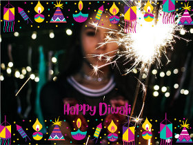 Happy Diwali - Diwali Photocard