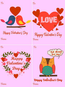 Happy Valentine's Day - 4 in 1