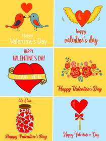 Happy Valentine's Day - 6 in 1