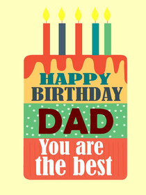 On Your Birthday Dad You Are The Best