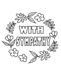 Sympathy card coloring pages ~ Free Printable Sympathy Cards, Create and Print Free ...