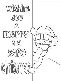Have a Merry and Safe Christmas - Christmas Coloring Card