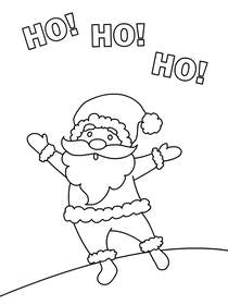 Ho Ho Ho - Christmas Coloring Card