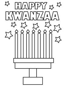 Kwanzaa Coloring Card