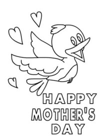 Big Hug Mothers Day Coloring Card