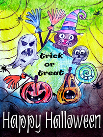 Trick or Treat - Happy Halloween