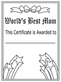 Worlds Best Mom Certificate