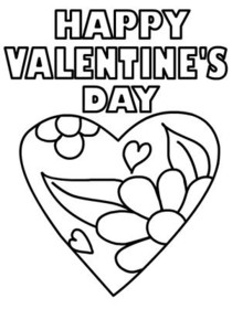 Free Printable Valentines Day Coloring Cards Cards, Create and Print ...