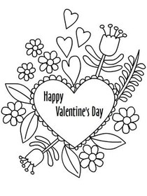Valentines Day Coloring Card 4