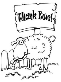 Thank Ewe! Coloring Card