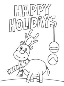 Free Printable Christmas Coloring Cards Cards, Create and ...