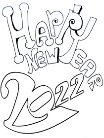 new year new year coloring card