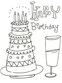 Happy Birthday - Coloring Card